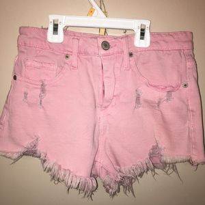 Mossimo Destroyed PinkCut Off Denim Shorts 6